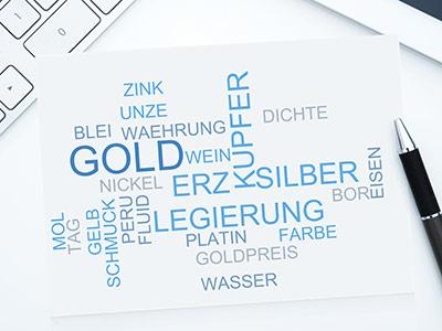 Gold Legierungen